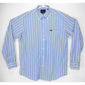 0ab3ed1e Faconnable Shirts - Faconnable Blue Yellow Stripe Button Down Shirt